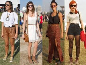 pernas de fora, saia mullet e meia calça: muitos estilos
