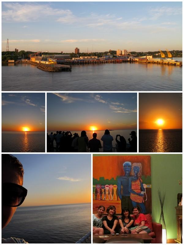 por do sol colonia uruguai buquebus