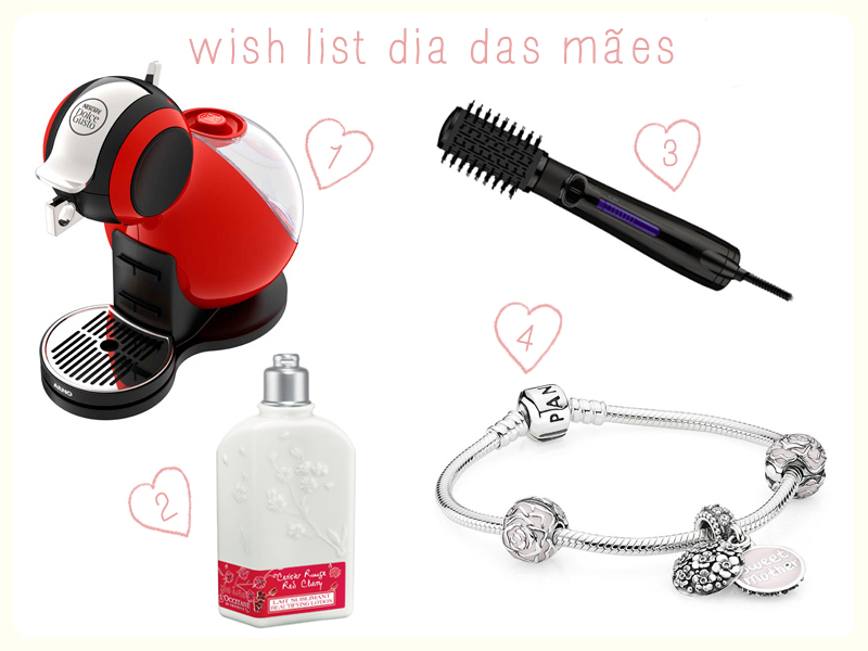 wish list dia das mães