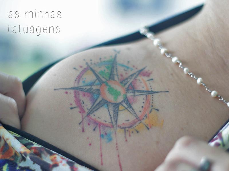 tatuagens coloridas penteadeira amarela destaque