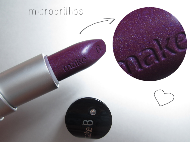 o boticário make b. universe collection batom cosmic purple