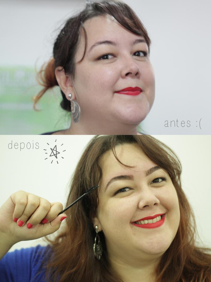sobrancelhas design antes e depois alinne
