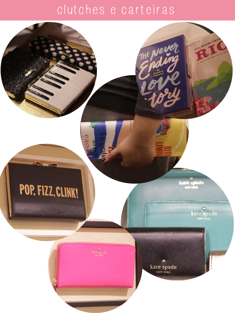 KATE SPADE NEW YORK FORTALEZA CLUTCHES CARTEIRAS