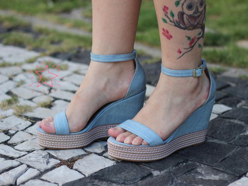 look do dia esposende shopping sandália fill sete