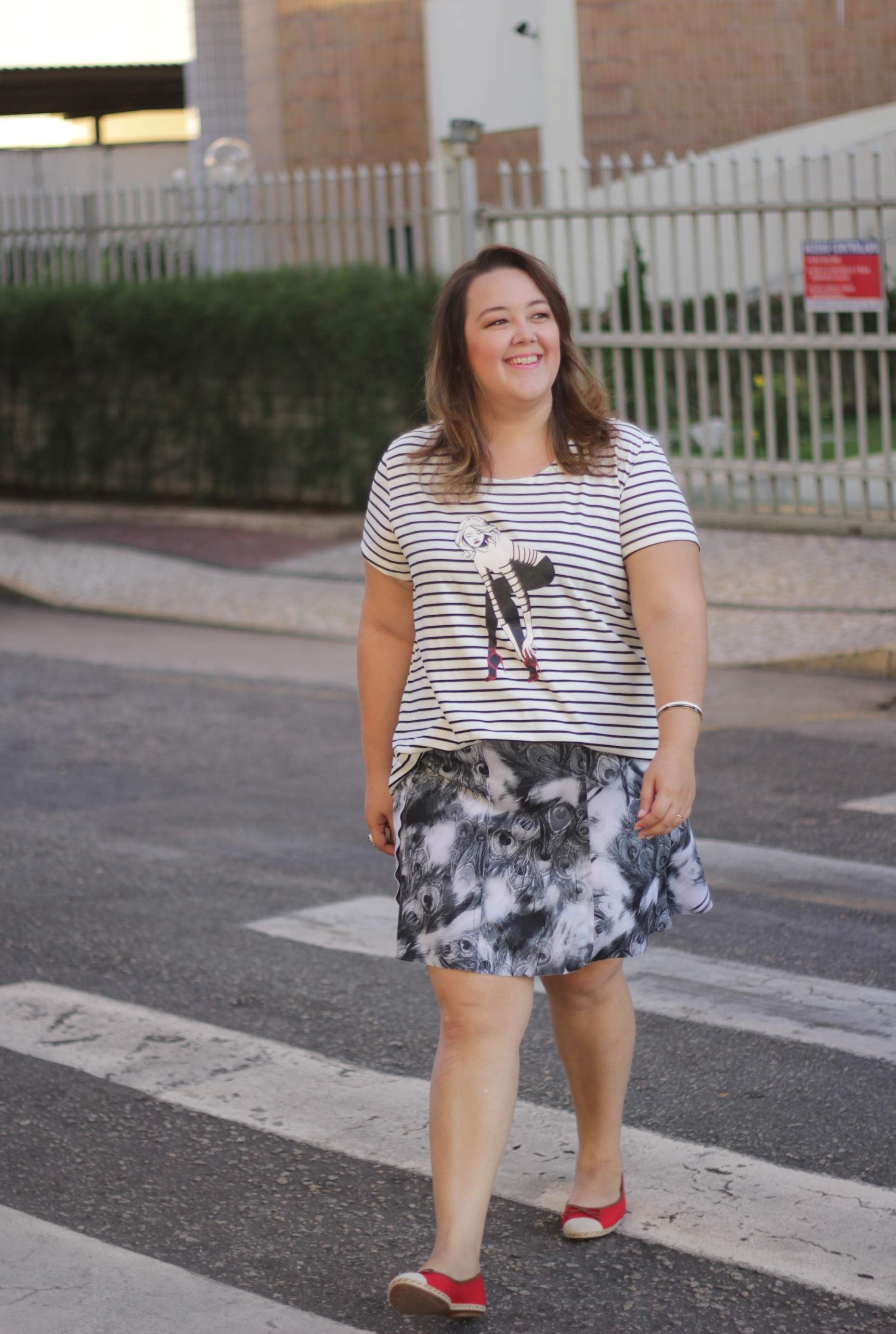 look plus size - gk fashion - mix estampas