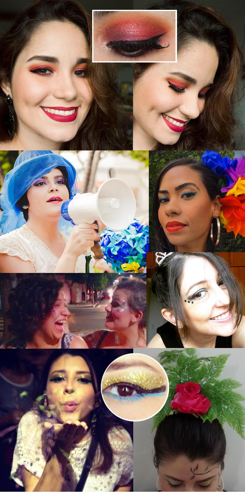 inspiracoes maquiagem carnaval 2016