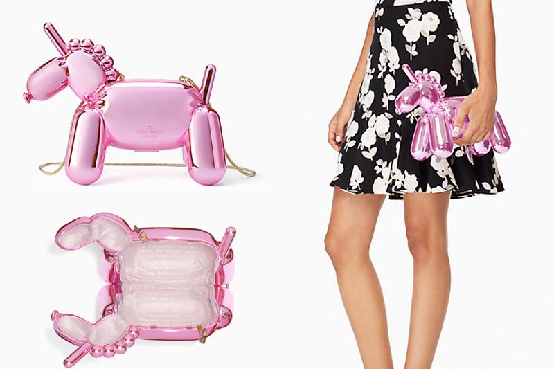 bolsa unicórnio rosa kate spade