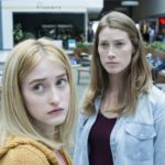 From l to r Alex Copeland (Gus Birney) and her mother Eve Copeland (Alyssa Sutherland) get stranded at the mall when foreboding mist that arrives in one small town ushering in a new reality for their residents, putting their humanity to the test.  Based on a story by Stephen King, Spike TV's THE MIST premieres on Thursday, June 22 at 10 pm ET/PT.