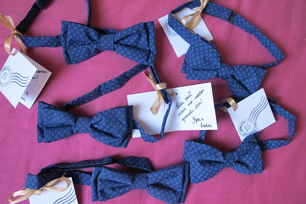 presentes padrinhos casamento larisnoivinha penteadeira amarela gravata borboleta