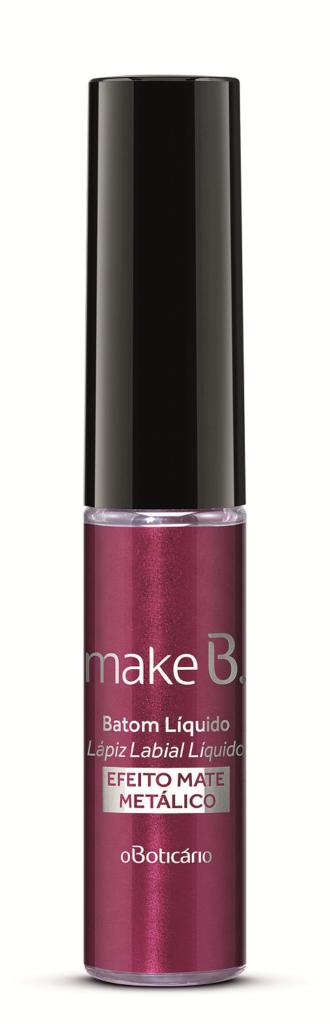MakeB. : Batom Liquido Efeito Matte Metalico na Cor Purpleasure