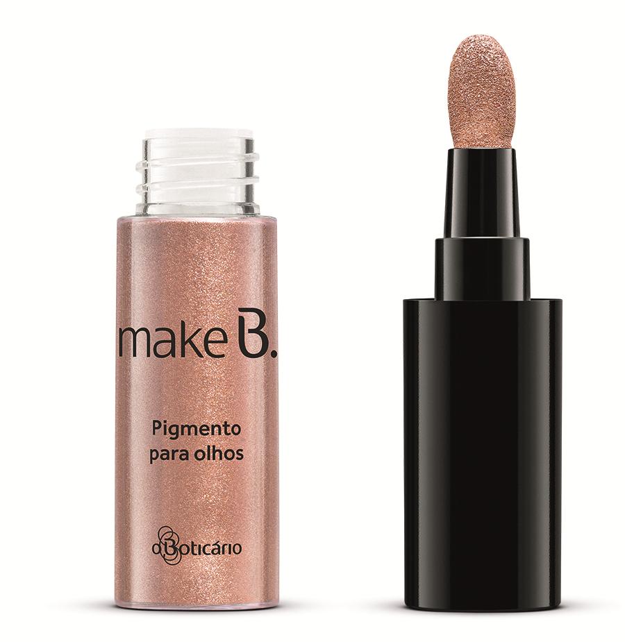 MakeB. : Pigmento para os olhos abertos na cor Bronze Lights