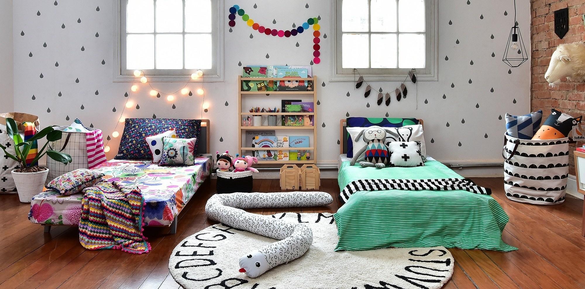 Roupas de cama coloridas Mooui.
