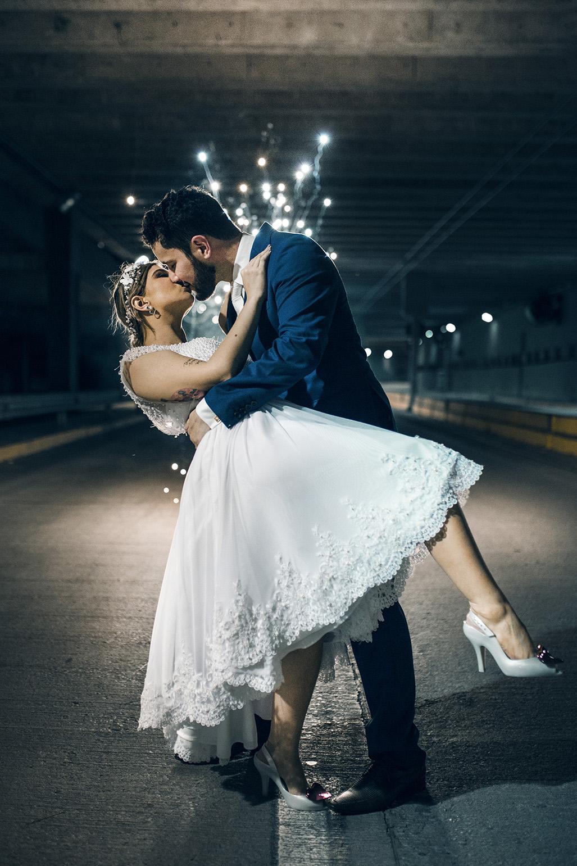 fotografia noturna casamento laris e igor