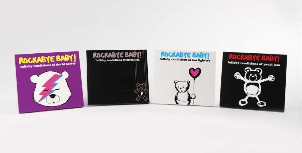 Alguns dos Álbuns do Rockabye Baby - foto @rockabyebabymusic