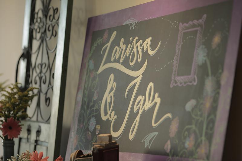 lettering casamento thilie laris e igor
