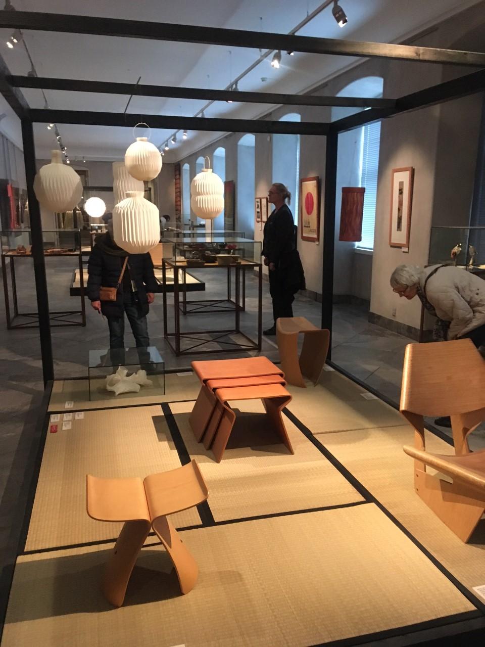 Exposição no museu do design dinamarquês.