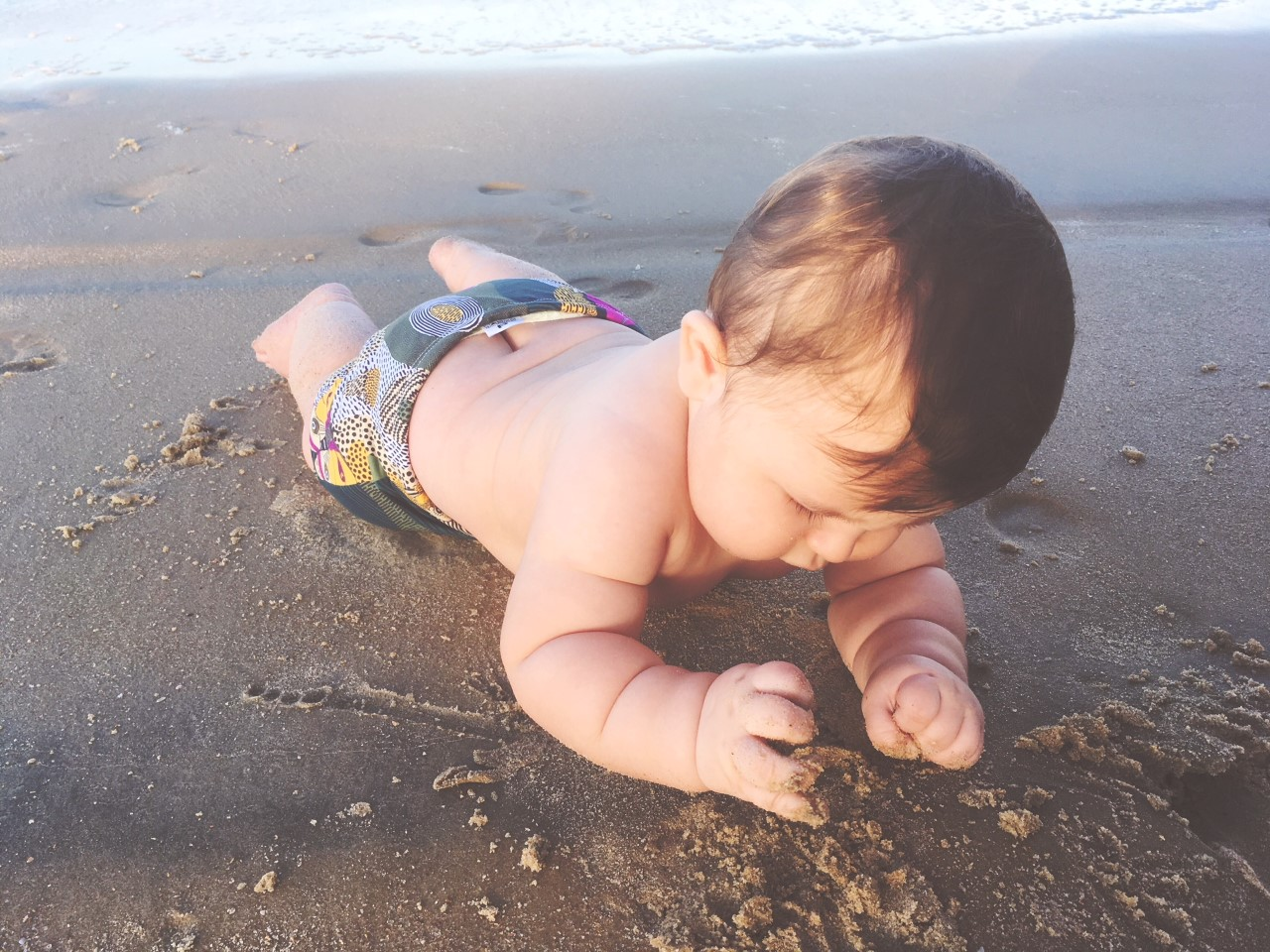 Primeira vez na praia.