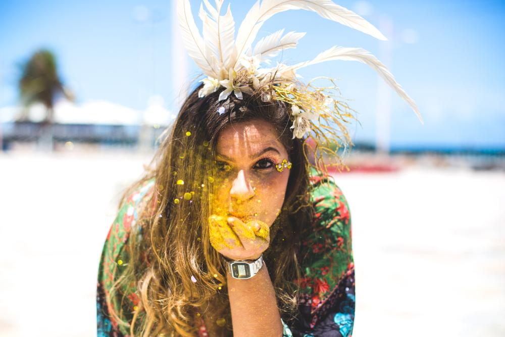 Beijos de glitter. Foto: Henrique Kardozo