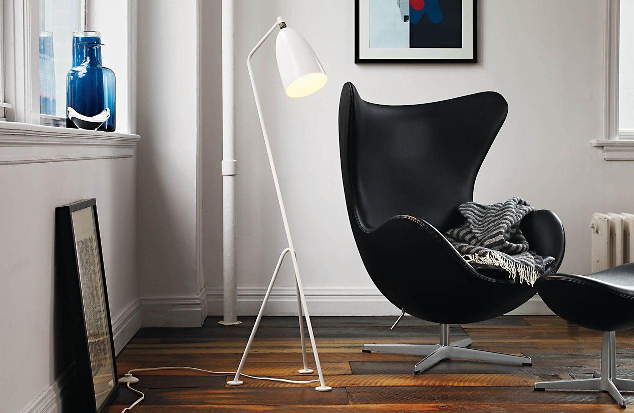 egg chair preta