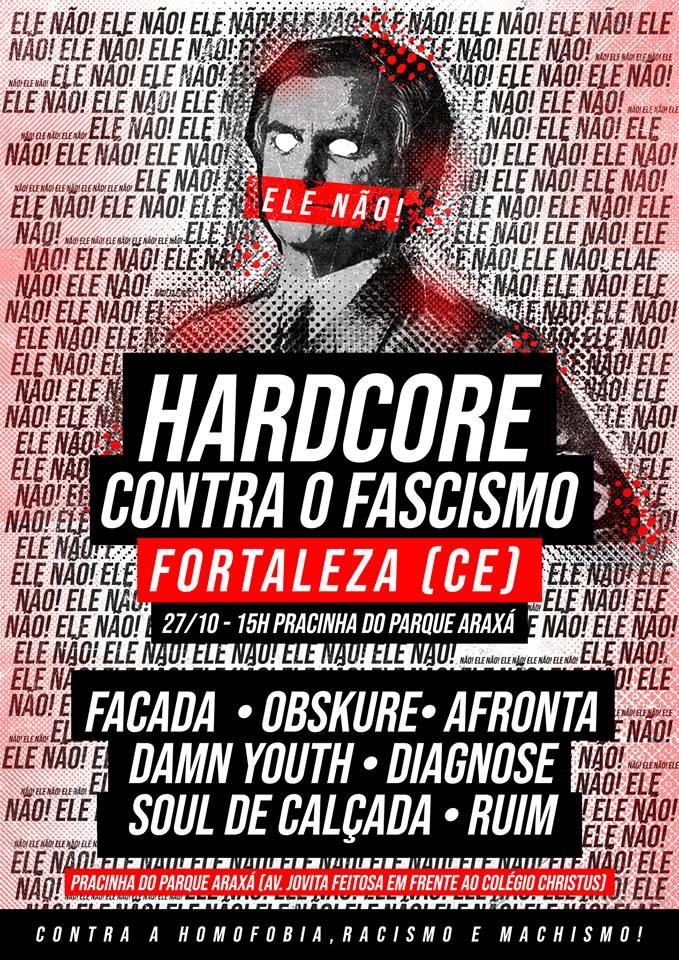 hardcore contra o fascismo fortaleza